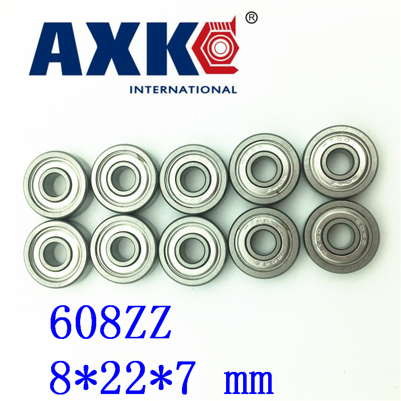 2019 Rushed Steel Rodamientos Ball Bearing 10pcs/lot Free Shipping 608zz Abec-7 8x22x7 608 Z Pulley Shoes Special Bearings