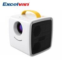 Excelvan Q2 мини-проектор 70 люмен, портативный проектор для детей, для обучения, для домашнего кинотеатра, проекторы, поддержка 1080 P, Мини проектор
