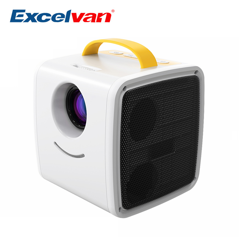 Excelvan Q2 Mini Projector 70 Lumens Portable Projector Children Education Home Theater Projectors Support 1080P Mini Beamer