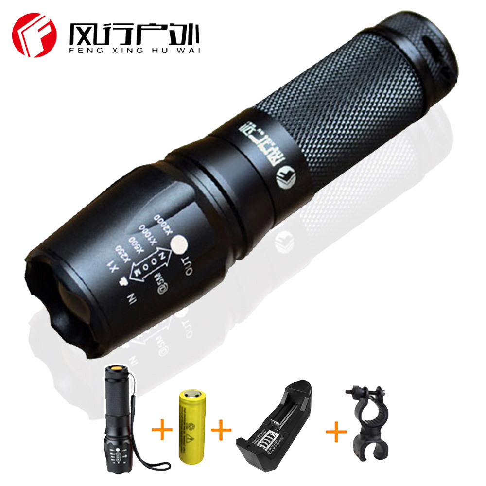 High Power LED Flashlight Torch Zoomable Lanterna torch Light 5000Lumens penlight tactical light super wide lighting angle q5 flashlight tactical 2000lm lanterna torch penlight 3 modes zoomable linterna led diving flash light 1w high power