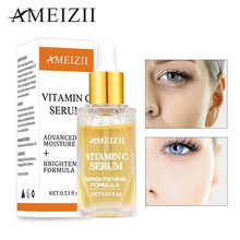 Ameizii Vitamin C Serum Brighten Skin VC Essence Pure Hyaluronic Acid Fade Dark Spots Whitening Cream Care Beauty Essential