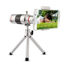 High quality 18x Zoom Optical Telescope Telephoto Lens Kit Phone Camera Lenses With Tripod For iPhone Huawei Samsung Xiaomi
