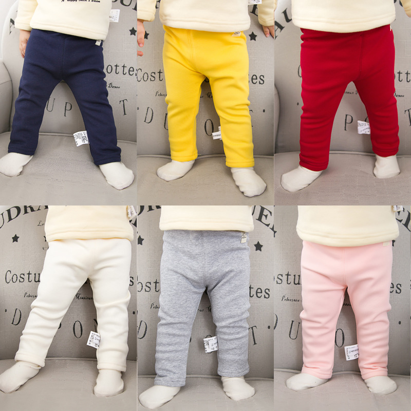 2017 Winter Baby Boys Girls Pants Kids Clothing Cotton Baby Long Trousers Thicken Pants Baby Boys Girls Clothing
