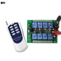 DC 12v 12CH remote control Switch Remote ON OFF 1 transmitter + 1 receiver with LED Light PCB Board Free shipping 4012