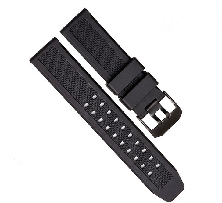 1PCS 23mm rubber bands watch band watch straps Silicone watch strap black color for luminox watch цена