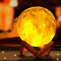 3D moon starry sky star lamp RGB Led night light colorful moonlight table lamp touch remote galaxy lamp indoor decor lighting
