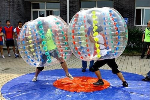 Material de TPU bola de parachoques 1.2 M tamaño 0.8mm uso para juegos al aire libre juego de deportes inflable zorb bola de la burbuja