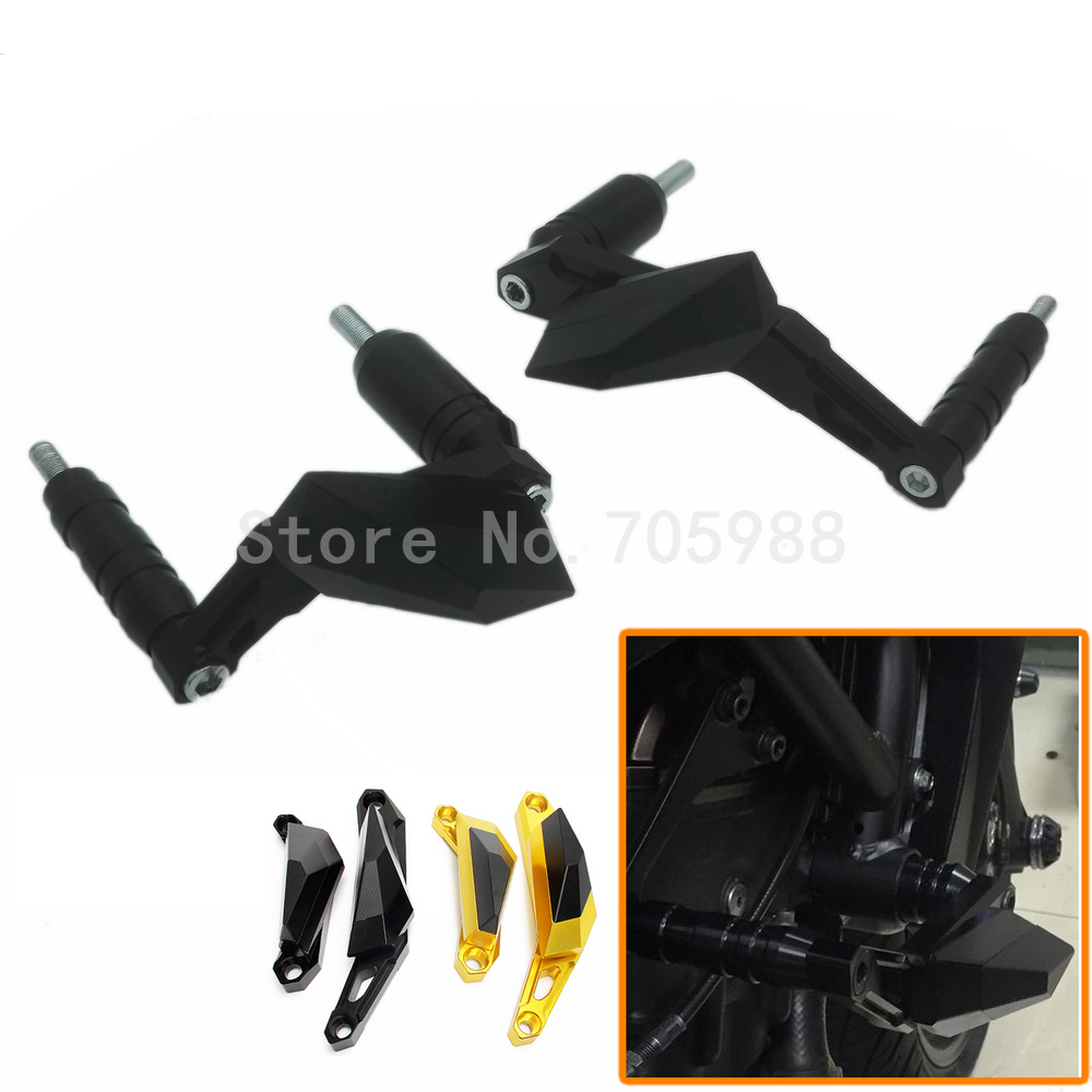 New Black Motorbike CNC Crash Pads Frame Slider Protector Falling Protection For Yamaha MT07 MT-07 2013 2014 2015 2017 new knight protection gxt flip up motorcycle helmet g902 undrape face motorbike helmets made of abs and anti fogging lens