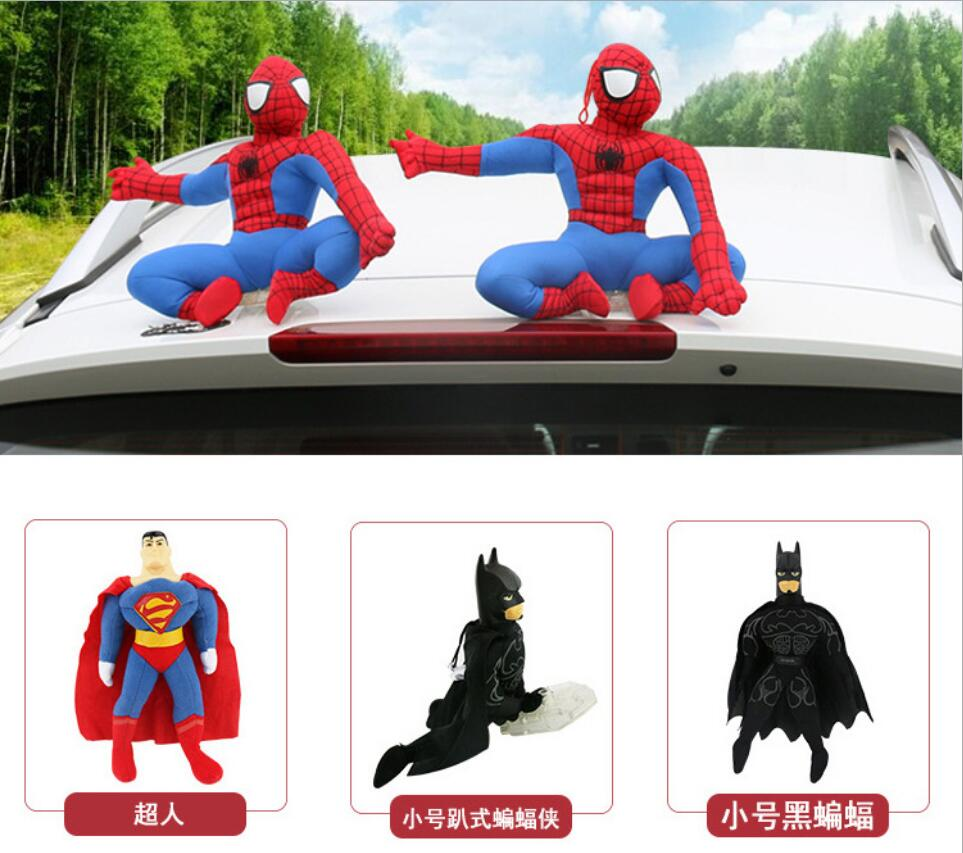 Spider Man Hero Back Homecoming Spiderman Q Version PVC Figure Car Decoration Model Doll Toys Brinquedos Christmas Gift