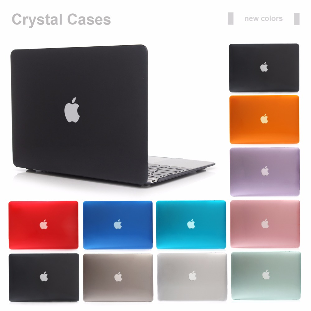 Nueva funda de cristal transparente para Apple Macbook Air Pro Retina 11 12 13 15 funda para ordenador portátil para Mac book de 13,3 pulgadas
