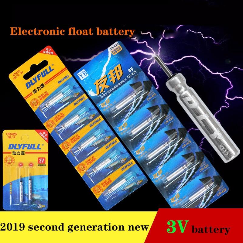 5PCS 3V Luminous CR425 Battery for Electronic Night Fishing Float Bobber Fishing
