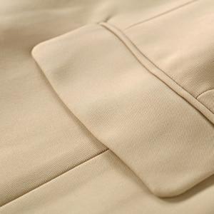 Image 5 - Qualidade superior novo à moda 2020 clássico designer blazer feminino duplo breasted metal leão botões blazer jaqueta exterior usar caqui