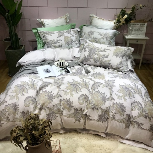 4pcs Collection Floral print Duvet cover 100%Cotton Soft Bedding Set queen size king Bed sheets or fitted sheet pillow shams