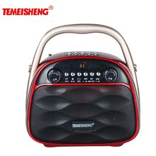TEMEISHENG HiFi Stereo Bluetooth Speaker Portbale Speaker Column Box For PC MP3 music Player Support Microphone Aux USB FM Radio