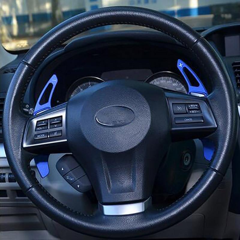 Car styling aluminium alloy Car Steering wheel shift paddle cover fit for Legacy WRX STI Forester impreza XV Outback accessories 4pcs original original crankshaft sensor position sensor 22056aa140 j5t24091 for 2004 wrx sti legacy forester outback genuine