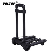 Portable Travel Trailer Aluminum Alloy Car Folding Luggage Cart Household and Car Luggage Cart Shopping Trolley Trunk Trailer new hot 36l foldable portable trolley aluminum alloy wheel bag shopping bag cart for shopping home travel