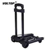 Portable Travel Trailer Aluminum Alloy Car Folding Luggage Cart Household and Car Luggage Cart Shopping Trolley Trunk Trailer
