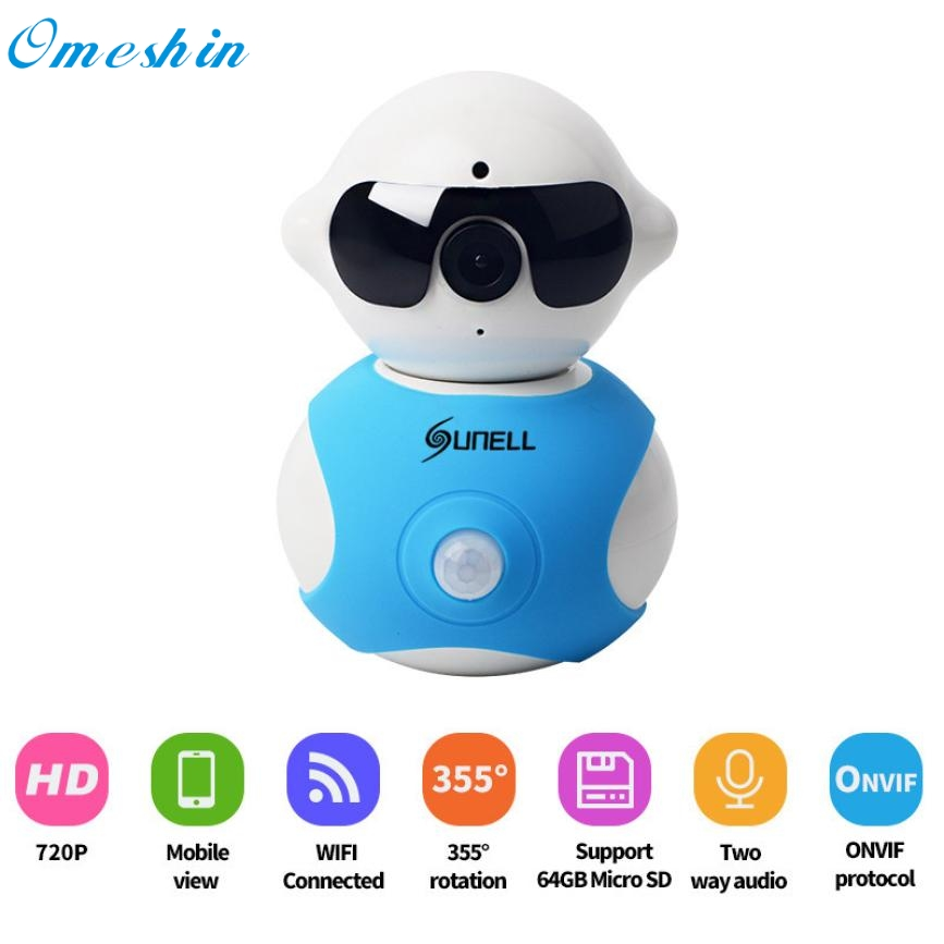 ФОТО Superior Quality Mini Robot Home Security Surveillance HD Pan and Tilt WiFi Camera mini Camcorders Feb17