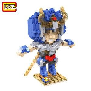 Image 5 - Bloques de construcción de los personajes de Saint Seiya, juguete de piezas de bloques de construcción de los Santos de bronce, Shiryu Ikki Super Hyoga Shun, colección limitada