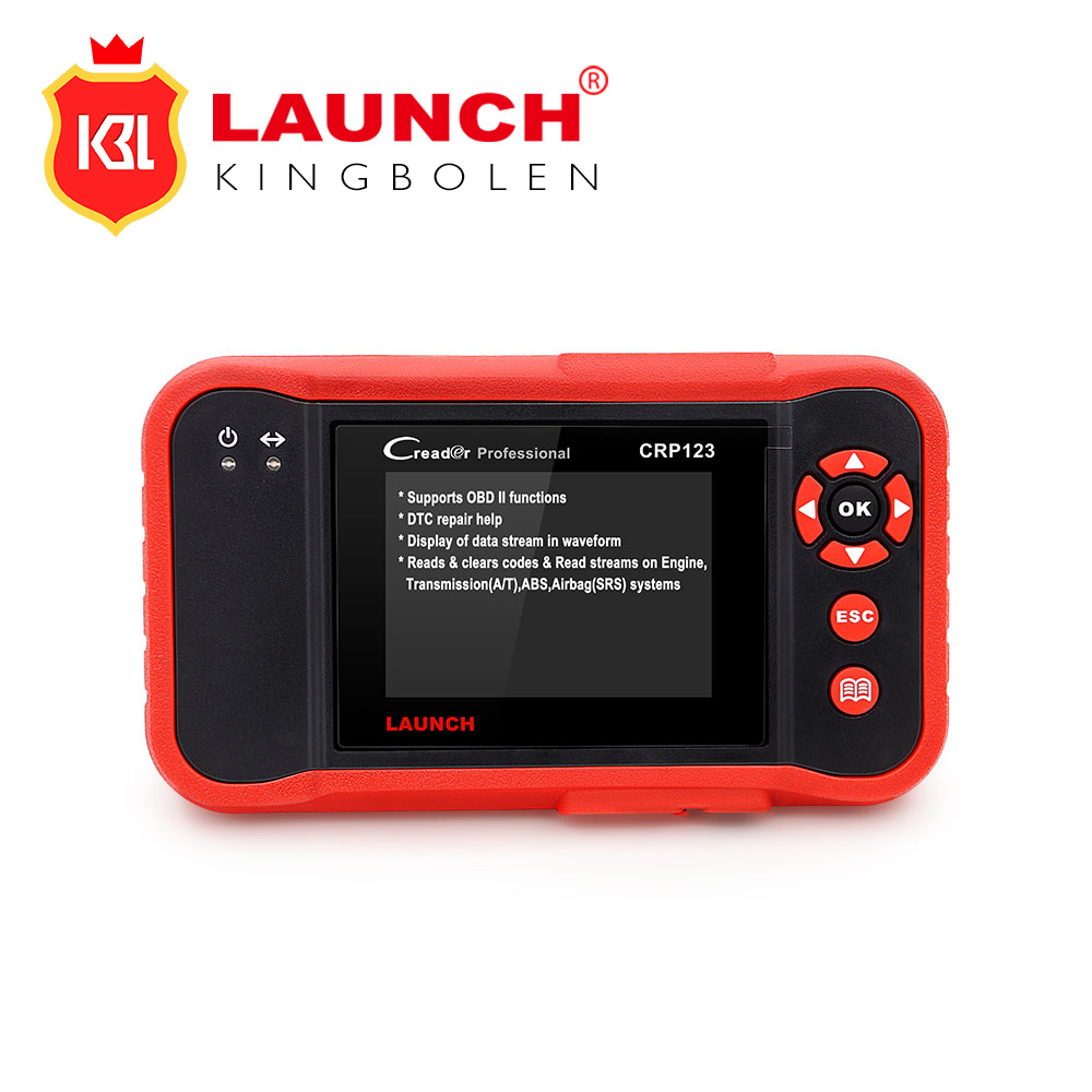 Цена за Запуск CRP123 обновление онлайн Запуск X431 Creader CRP 123 ABS, SRS, Трансмиссии и Двигатели код сканер же как Creader VII +