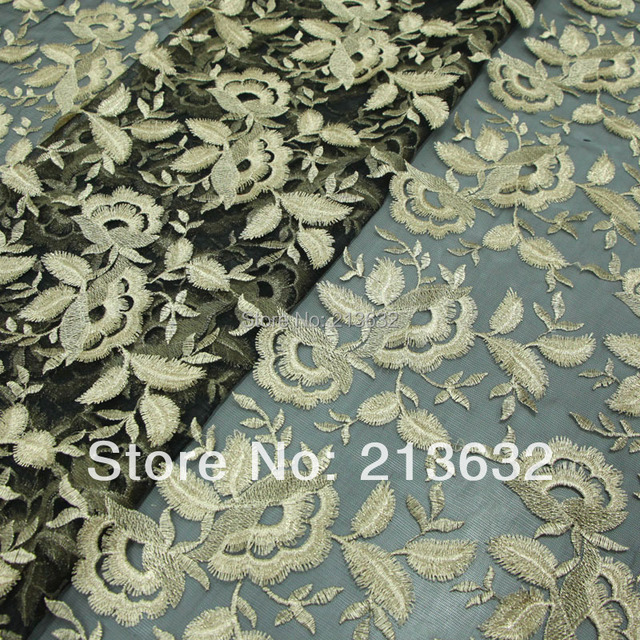D po62-275 New organza embroidered cloth textile embroidery fabric polyester line Guangzhou embroidery lace electronic Best new