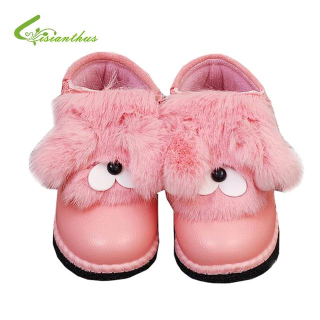 Caliente Del invierno Del Bebé Zapatos Antideslizantes Del Niño Del Fondo De Goma Zapatos Lindos de La Vendimia Fringe Primeros Caminante Newborn Calzado Del Bebé de Nieve botas