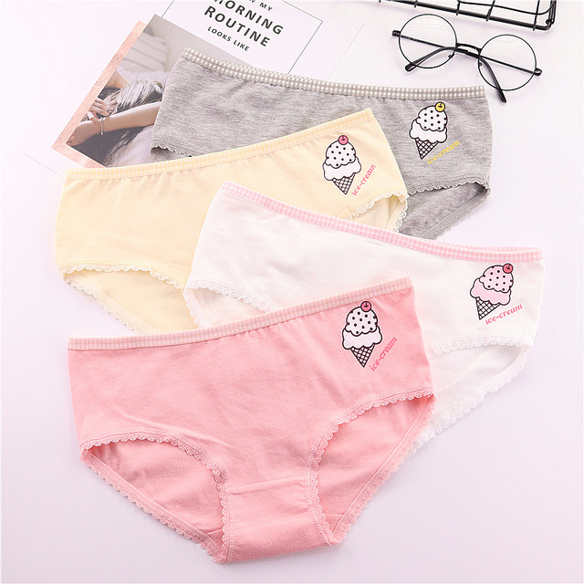 68bb9842f4 ZQTWT Lovely Ice Cream Women Panties Tangas Sexy Lingerie Cotton Cute Underwear  Breathable Soft Briefs Culotte