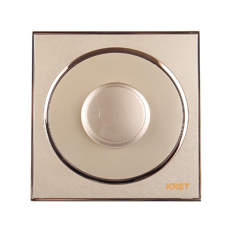 Interruptor da tomada de parede, 86-tipo de high-end casa decoração rodada Extrema ouro pintura de piano, painel interruptor de velocidade, 10A PC110-250V