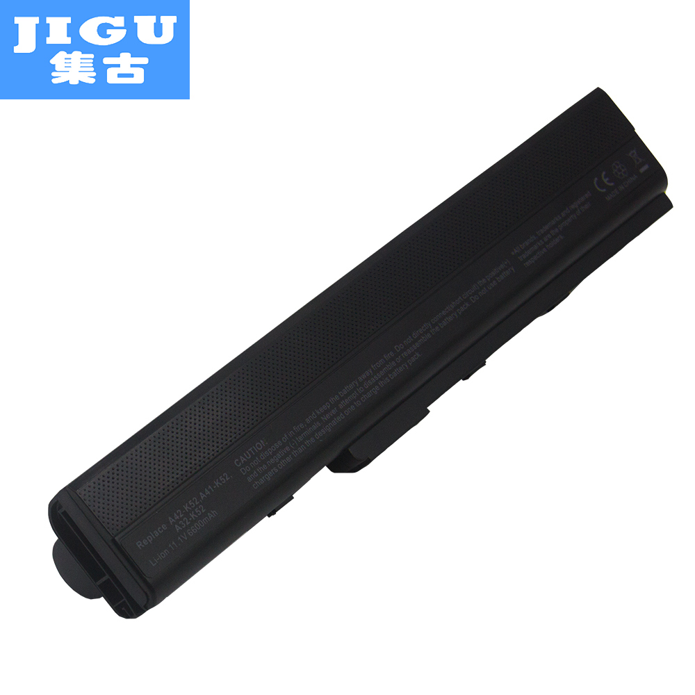 JIGU New 7800 mAh Hot Replacement Laptop Battery For ASUS K42 K52 A52 A52F A52J A31-K52 A32-K52 A41-K52 A42-K52JIGU New 7800 mAh Hot Replacement Laptop Battery For ASUS K42 K52 A52 A52F A52J A31-K52 A32-K52 A41-K52 A42-K52
