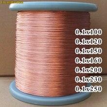 ChengHaoRan 1m 0,1x100x0,1x120x0,1x150x0,1x160, 0,1x200x0,1x230, 0,1x250x0,13x60 filamentos trenzados Luz de alambre de cobre de Multi