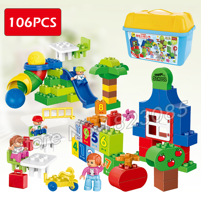 106pcs My First Learning Park Model Big Size Building Blocks ...
