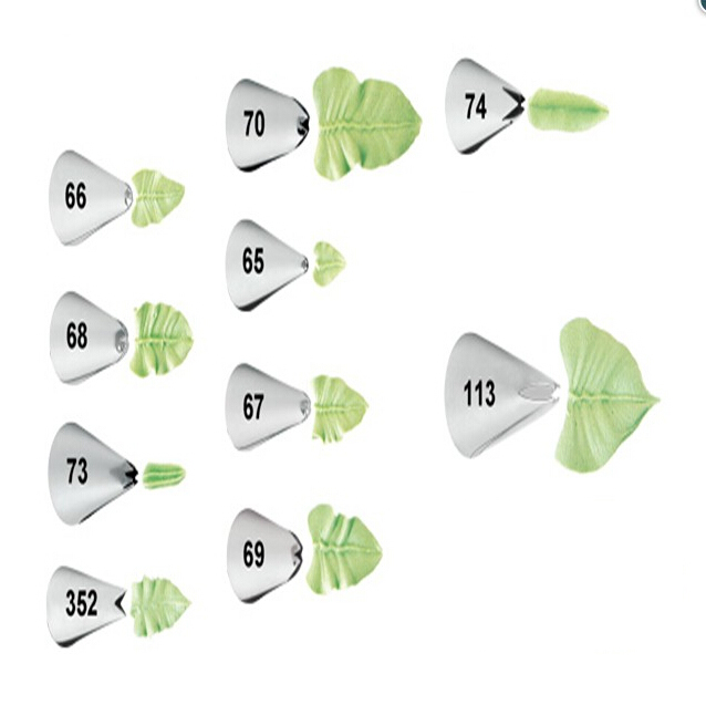 1-Piece Leaves Munstyckningsdysor Piping Tip Pastry Tip Cupcake Skrivning Tube Decorating Tips Bakverk & Pastry Verktyg Bakeware