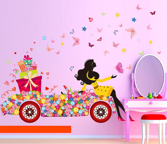 Removable Beautiful Butterfly Elf Arts Decal Wall Sticker For Kids ...