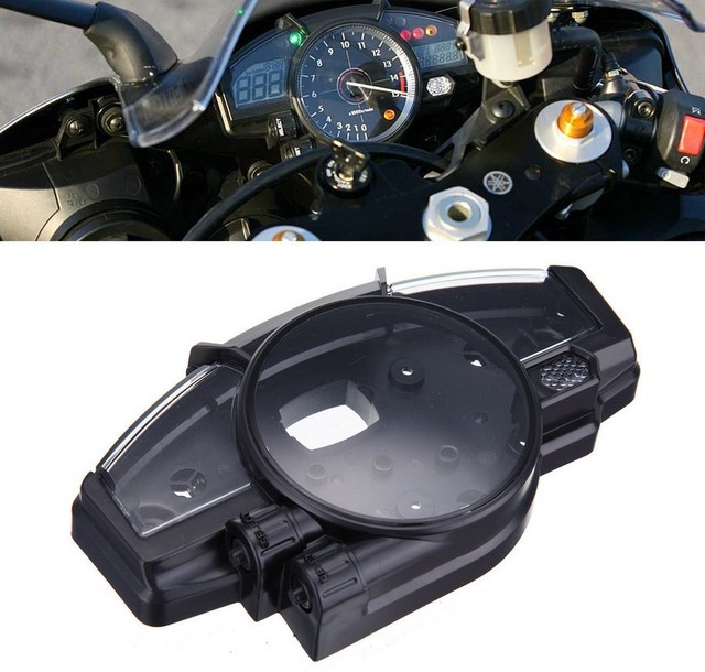 scooter parts/ Speedometer Gauge Case Tachometer Instrument Cover Fits For YAMAHA 2007-2008 YZF1000 R1 /free shipping
