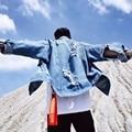 Новый Пабло Джинсовые Новые Евро-Америка Улица Уничтожить Мыть Проблемные Джинсовая Куртка Мужчины Прилив Бренд Свободные Куртки chaqueta hombre