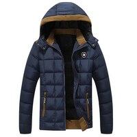 Brand Design Winter Jacket Men Velvet Thicken Cotton Coat Mens Down Parka Jaqueta Masculina Casaco Warm