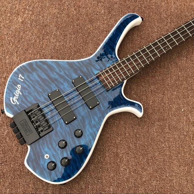 hardwork 4 String headless bass guitar 1