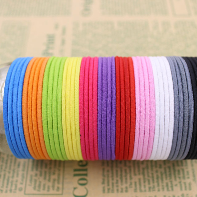 Brand(KAKU) 20pcs/bag Certified Products 2015 New 4.5CM Hair Holder Rubber Bands Hair Elastic Accessories Girl Women Tie Gum
