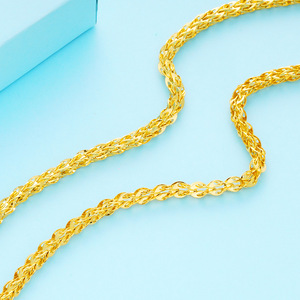 Image 5 - Collares de cadena clavcular fina para mujer, gargantilla de oro de 24 quilates, estilo bohemio, Bohemia boda, novia, joyería 2018