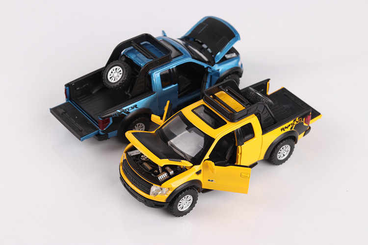 Simulasi Tinggi Indah Model Mainan Mobil Styling 1:32 Ford F150 Raptor Truk Pickup Paduan Model Mobil Hadiah Terbaik Gratis Pengiriman