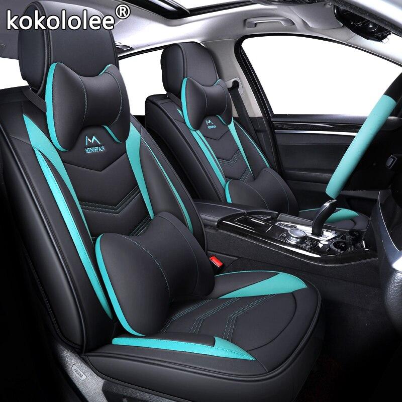 Nouvelle housse de siège de voiture universelle en cuir de luxe pour hyundai Elantra solaris tucson Zhiguli veloster getz creta i20 i30 ix35 i40 car
