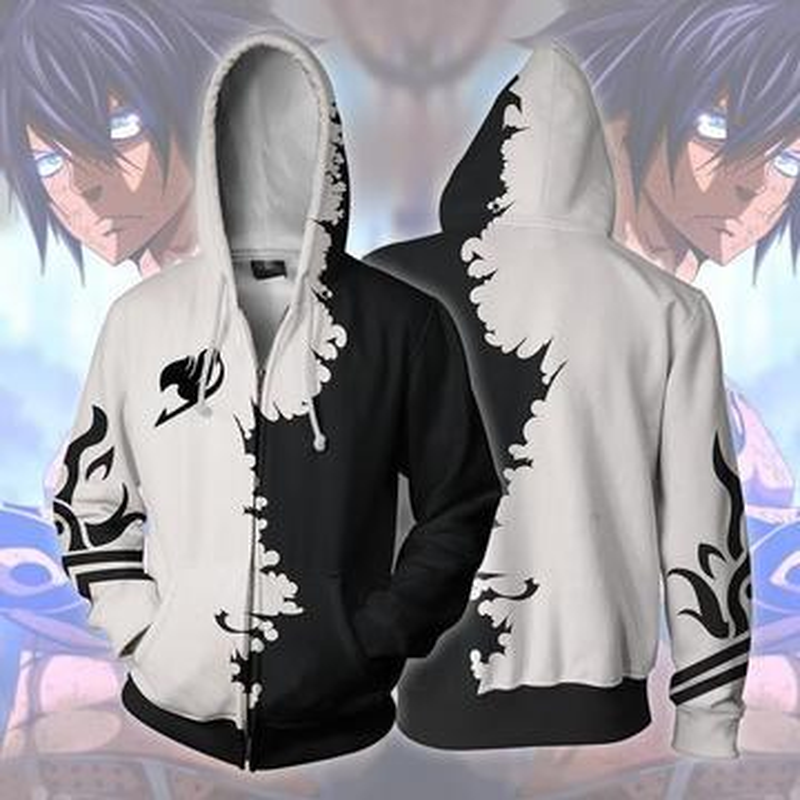 Fairy Tail Gray Fullbuster Anime 3D Print Hoodies Sweatshirts Casual Jacket Coat Cosplay 2019 New in Hoodies amp Sweatshirts from Men 39 s Clothing