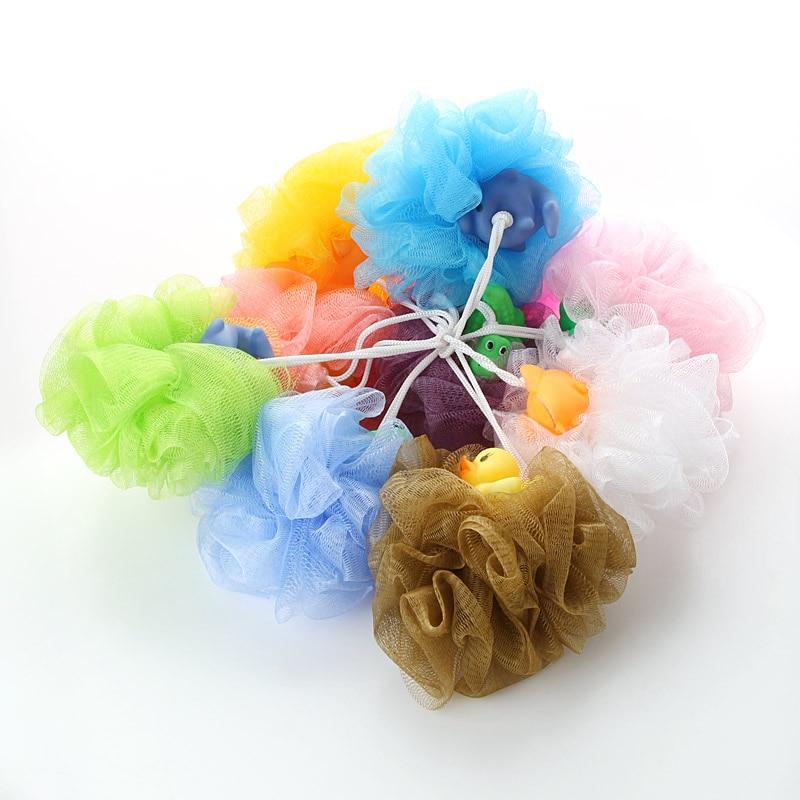 1pc Lace Hit Color Cartoon Bath Flower Bath Ball Bath Tubs Cool Bath Soft Sponge
