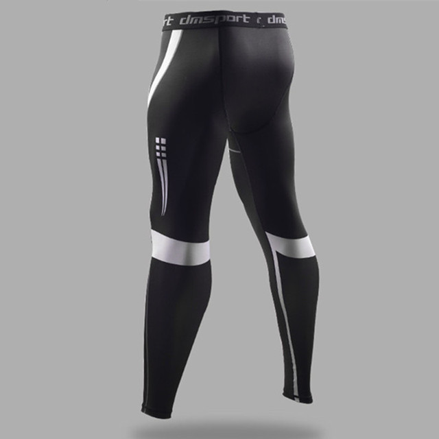 Men S Sports Leggings Black Compression Pants High Elastic Running Tights Basketball Leggings Sweatpants Fitness Long Trousers Trousers Long Trousers Black Mantrousers Black Aliexpress
