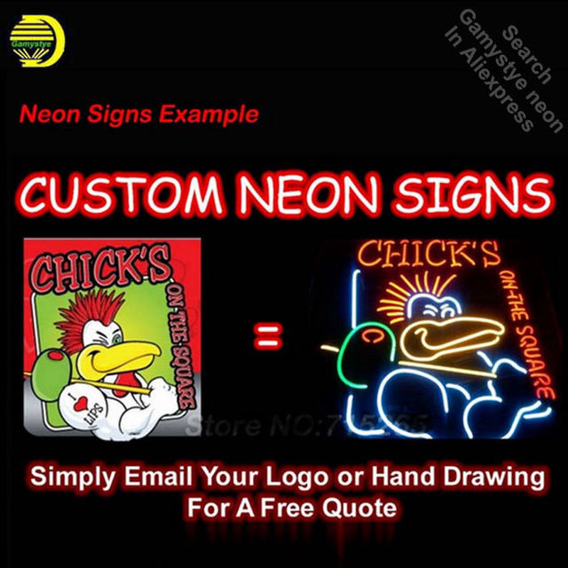 NEON SIGN Chef restaurant logo GLASS Tube BAR Light Sign Store Display paint board Handcraft Design Iconic Sign Pub Bar Signs 2