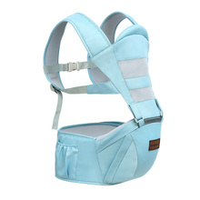 Baby Sling Waist Stool Breathable Four Seasons Multi-Function Front Cross-Holding Child Children Hold Baby Babies Single Seat lightweight breathable baby sling waist stool backpacks carries multiple back child stool scientific design to ease the load