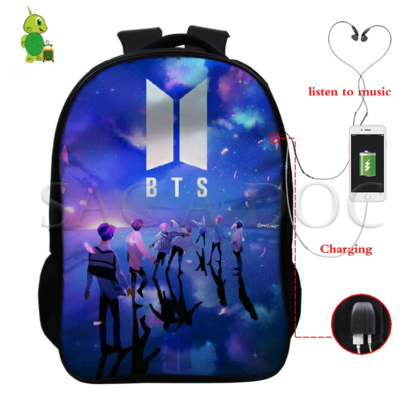Men's Bags Hearty Bts Love Yourself Multifunction Backpack Women Men Usb Charge Laptop Backpack School Bags For Teenagers Jimin V Travel Bags Last Style Luggage & Bags