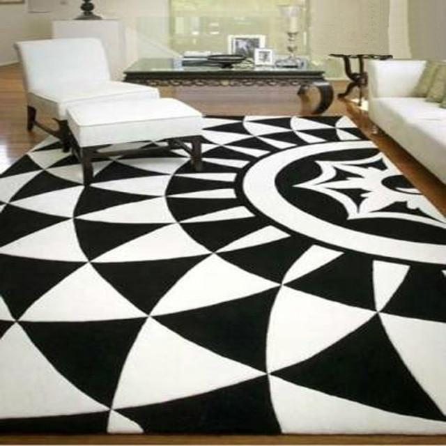 Acrylique tapis noir alfombras tapete tapis tapis pour un salon moderne tapis et moquettes alfombras de
