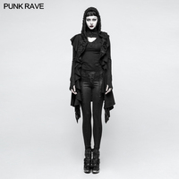 2018 Punk Rave Gothic Vintage Pinup Rock Cool Sweater Top Black woman sweater long sleeve womens ladies M037