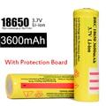 100% A Estrenar 4 Unids/lote BRC 18650 Protegida 3600 mah 3.7 v Li-ion Recargable Con PCB